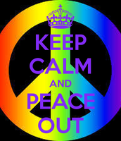 Wednesday:  60's Throwback Day--PEACE OUT!