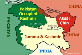 map of occupied Kashmir