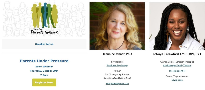 Decatur Parents Network Event: Parents Under Pressure