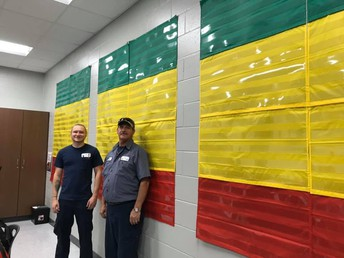 Thanks to Lucky and Kelby for hanging our data wall charts.  We are excited to continue to monitor our students growth. #lmmsrocks
