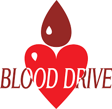 decorative blood drive symbol