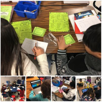 4th grade blended learning reading stations