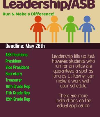 Run for Office! Join Leadership!