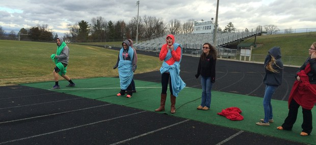 Latin Club members participate in Atalanta's Race...in togas!