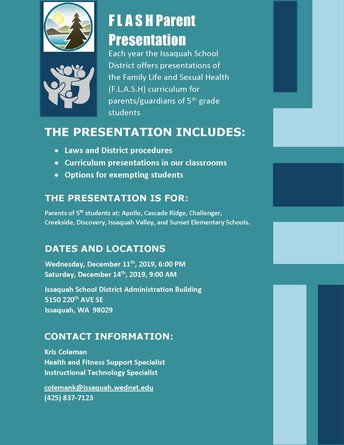FLASH Parent Presentation flier