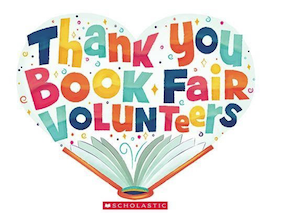Thank you Book Fair Volunteers