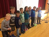 2nd graders that received September Perfect Attendance Awards