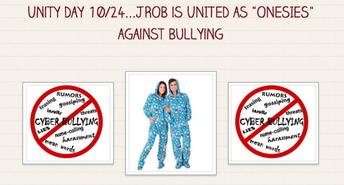 "10/24 - UNITY DAY  - JROB is UNITED as ""Onesies"""