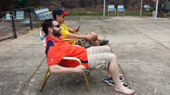 Lounging Dads