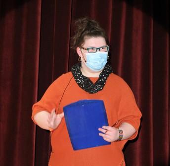 Girl holding folder