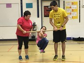 Susitna student demonstrating the wrist carry.