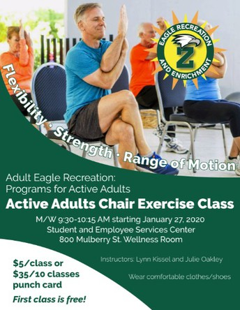 NEW-Active Adults Chair Exercise Class