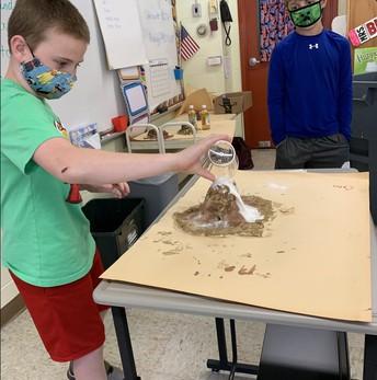 4th grader erupting volcano