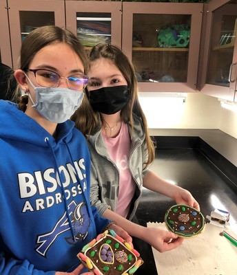 Science 8 Honours - Cell model with cookies lab
