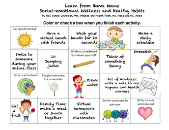 Social emotional Wellness & Healthy Habit Calendar (pg.1)