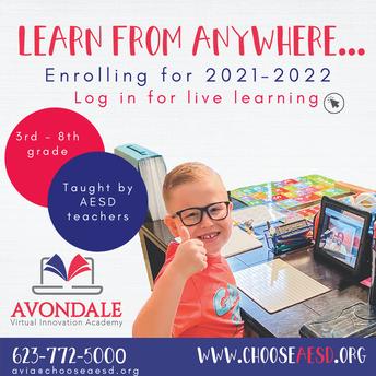 NEW at AESD: Avondale Virtual Innovation Academy