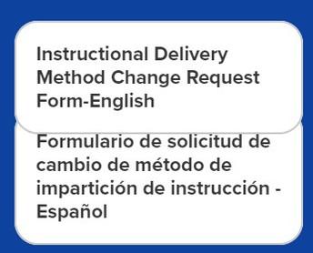 Switching Instructional Methods FAQ