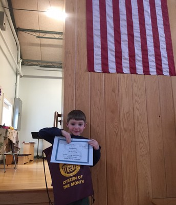 February's Kindergarten Citizen of the Month
