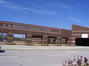 A. R. Rucker Middle's main entrance