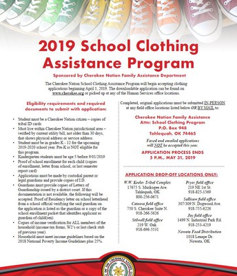 Cherokee Nation Clothing Assistance