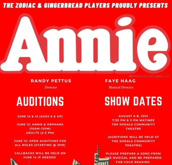 Come out and audition for Annie!