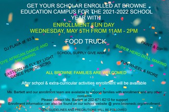 Browne Enrollment Fun Day