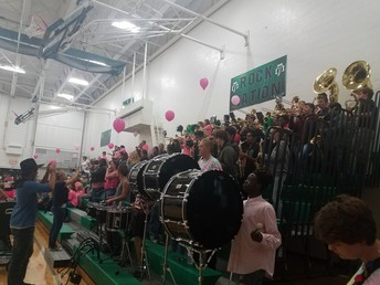 Band performing at the Dig Pink Volleyball Game