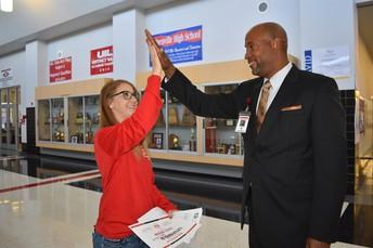 Ms. Broom gets a High Five!