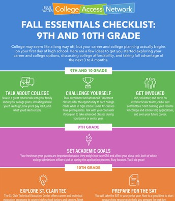 9th & 10th Grade Fall Essentials Checklist