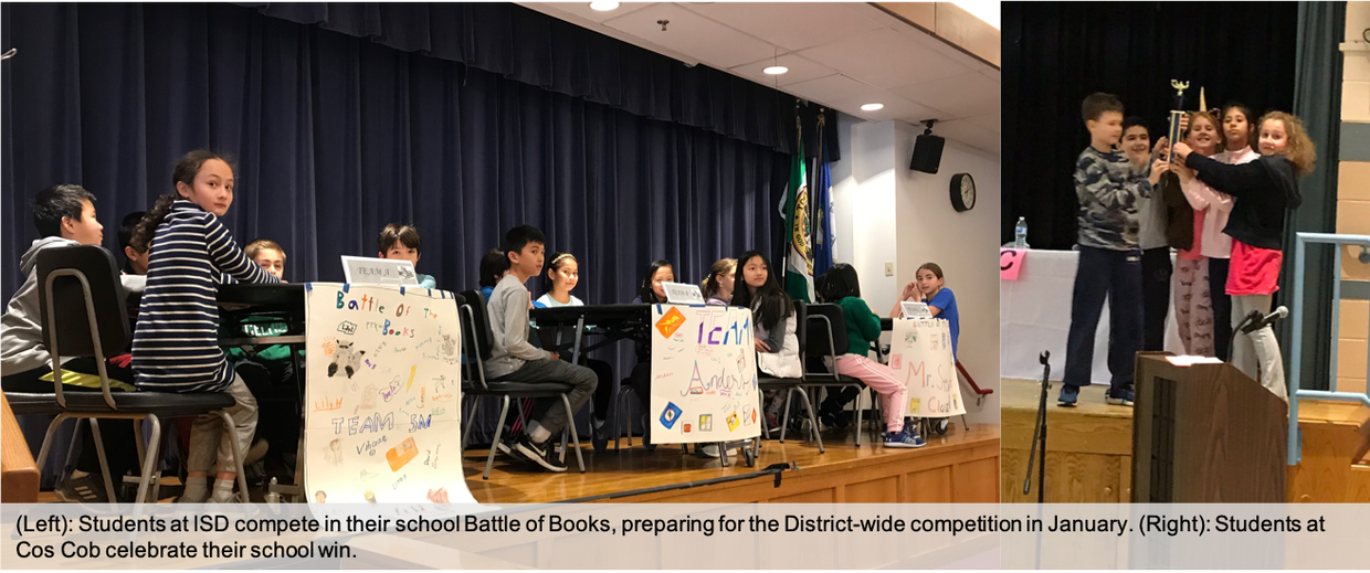 Students at ISD and Cos Cob participate in Battle of the Books