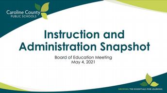 Assistant Superintendent & Directors Report