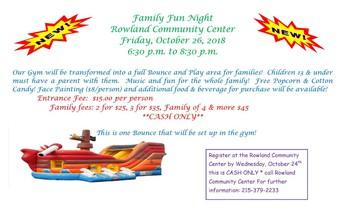 Family Fun Night at Rowland Community Center