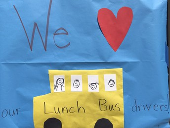 Thank you bus drivers for the meal deliveries!