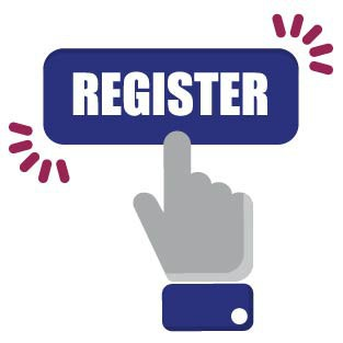 graphic symbolizing registering online