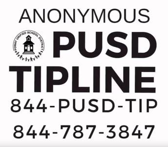 PUSD Tipline