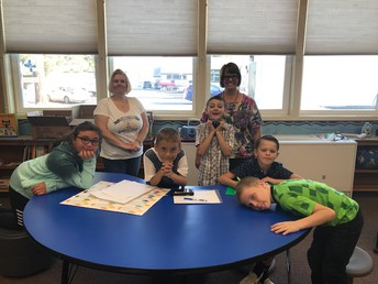 Ms. Bauer & Ms. Stephanie with some CES students!