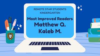 Kindergarten Remote Star Students