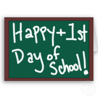 August 20th is the first day of school!
