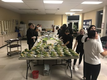 Culinary Arts Prepping Food