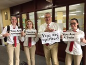 Principal-inspired Twin Day participation