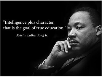 No School Monday, January 18th in honor of Martin Luther King Day