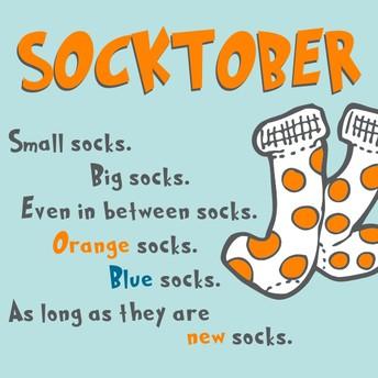 Socktober - Sock drive - Last week to drop off socks!