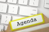 Agenda for April Meeting