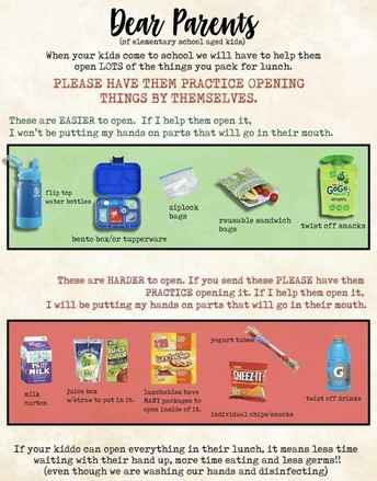 Lunch/Snacks Info: