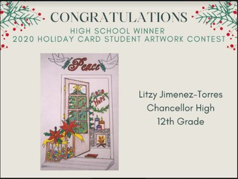 Chancellor's Has a Holiday Card Student Artwork Contest Winner!!!