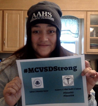 Ms. Kerwin Sporting AAHS Gear & Staying Strong