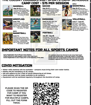 TCHS Summer Camp