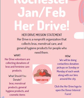 Her Drive Jan/Feb Event