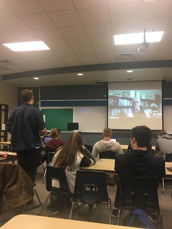 Social Studies Students Skype with a Famous Author