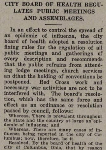 """Teaching Columbus: """"Influenza School Closures in Columbus, 1918-1919"""""""